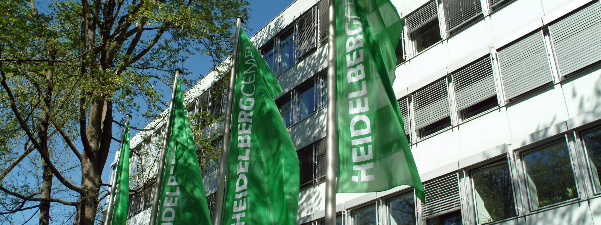 HeidelbergCement flags.